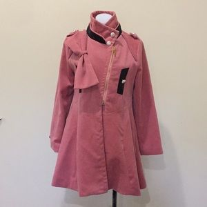 Jackets & Blazers - Blush Rosey pink military look coat